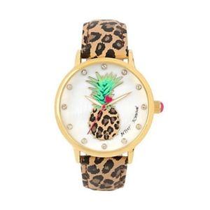 Betsey Johnson Women's Pineapple Face Watch NWT